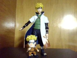 Minato and Naruto, dad and son by Alucard4