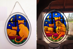 Faux Stained Glass Cats by pinkythepink