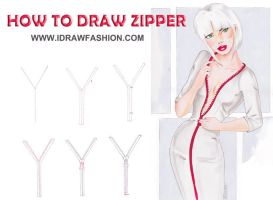 How to draw .....zipper! by idrawfashion