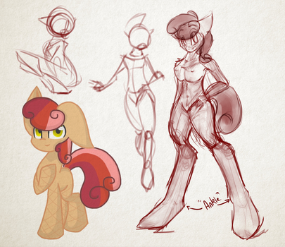 Request 1 -Anthro by MyLilPegasister