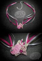 Pink Cookie Deco Loli Necklace by squeekaboo
