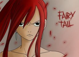 Fairy Tail - Erza Colored by Andrawing