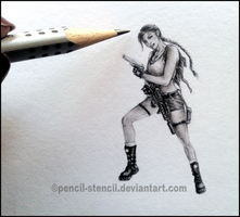 Mini Raider by Pencil-Stencil