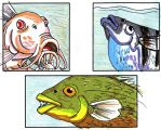 Different Fish Mouths by Tibby101
