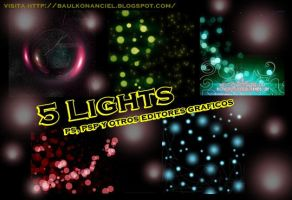 5 Lights para photoshop by KonanCiel