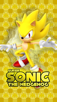 Super Sonic Phone Wallpaper by CosmicBlaster97