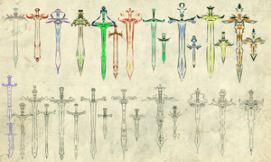 sword collection wee by wickedevilbunny