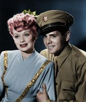 Lucy and Desi Colorized by ajax1946