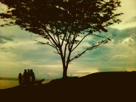 Stay together for the sunset by teelafpiya
