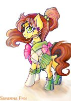 Sailor Jupiter pony. My little pony. by FreeSavanna