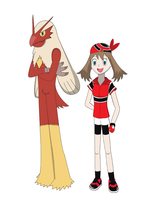 May and Blaziken by Blue90