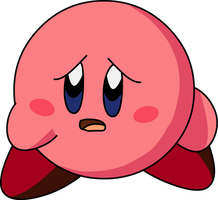 Injured Kirby without blood by KingAsylus91