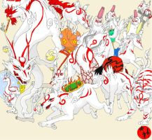 Okami Constelations by Hyrika