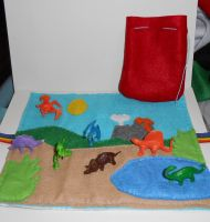 Dinosaur Felt Play Mat by kiddomerriweather