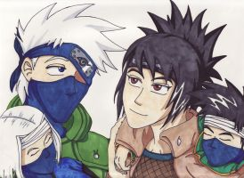 NG: KakaAnko family by WhiteFangKakashi300