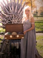 Daenerys with eggs and Throne by Elisa-Erian
