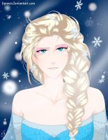 Elsa d'Arendelle Colour by Fanwen