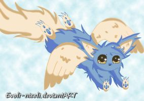 Fakemon Eevee fly by Evoli-niceli