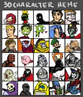 30 characters meme by Underbase