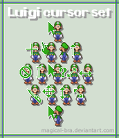 Luigi cursors by magical-bra