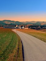 Country road into beautiful panorama by patrickjobst
