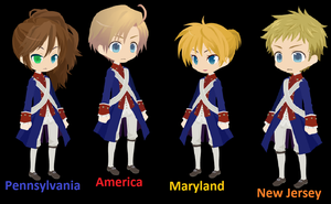 The  13 Colonies Part One by girlnephilim90