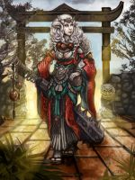 Oni by the Gate by Vanagandr