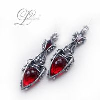 LANTHIRIEEL earrings by LUNARIEEN