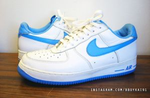 2002 Nike Air Force 1 'Columbia' by BBoyKai91