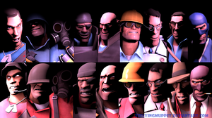 RED or BLU: Who Are You? .:TF2wallpaper:. by ZeFlyingMuppet