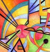 Kandinsky Inspired 2 by Artwyrd