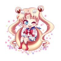 Chibi Super Sailor Moon by Cure-Rainbow