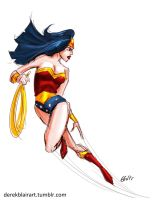 Daily Warm-up: Wonder Woman by derekblairart