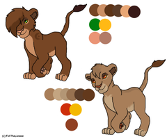 Female lion cubs - contest entry ADOPTED by M-WingedLioness