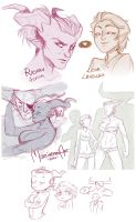 Dragon Age Inquisition - sketchdump #2 by mortinfamiART