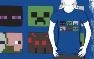 Minecraft Mobs T-shirt by Whovian-Rinny