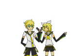 Rin and Len A present to my watchers! by JeniKagamine