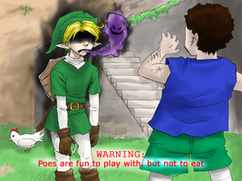 Link Ate a Poe by NiaNook33
