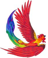 Phoenix - Colored Pencil Play by strawberryfruitpoop