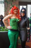 Indiana Comic Con Ivy and Catwoman by SirKirkules