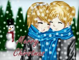 Rin and Len Merry Christmas by Nellers500