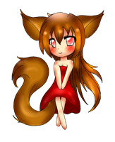 Chibi Fox version 2 by lukystar45
