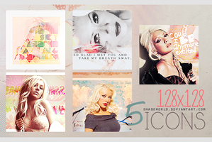 Christina Aguilera Icons Pack by shadoworld