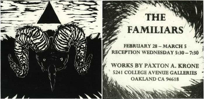 The Familiars, An Invitation by Print-maker
