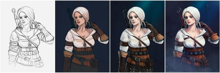 Ciri Steps by nixuboy