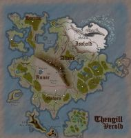 Verold, Thengill: Fantasy Map (Dark) by Aldrnarii