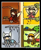 Faeries Seasons by ArtistsForCharity