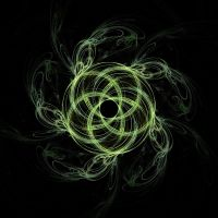 Green Swirling Fractal Pent by copperphoenix