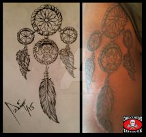 dream catcher tattoo by diegomicolta317