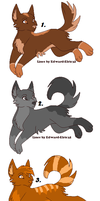 Tri-color Themed Wolf Adoptables CLOSED by kitkatkttyAdopts5000